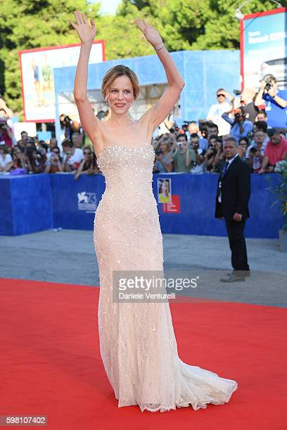 Festival hostess Sonia Bergamasco attends the opening ceremony and premiere of 'La La Land' during the 73rd Venice Film Festival at Sala Grande on...