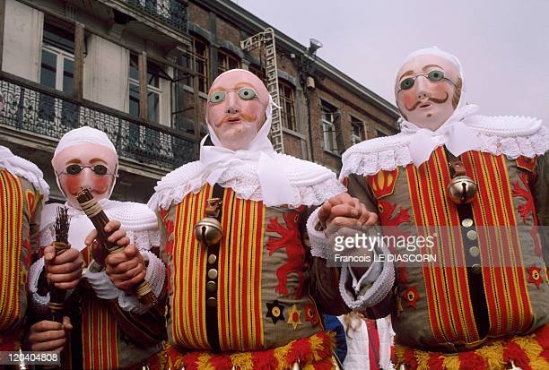Festival In Binche Belgium At dawn on Mardi Gras the drummers go to get the Gilles at their homesThe Gilles are wearing sumptuous costumes...