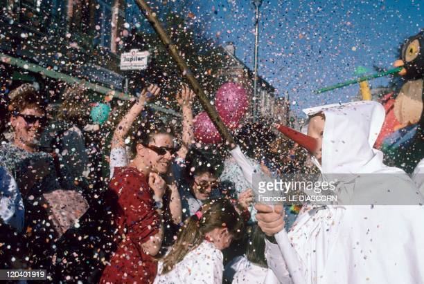 Festival In Stavelot Belgium The carnival of Laetare features the Blancs Moussis the Blanc Monsieurs or the White MenThe participants are costumed...