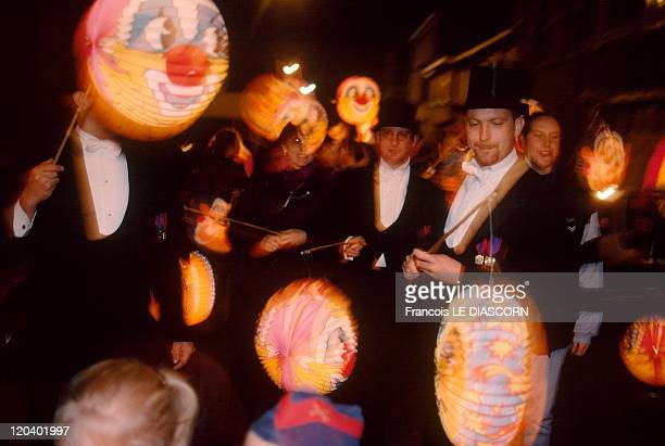 Festival In Vise Belgium A procession with lanterns ends the festivities in the evening Saint Martin Festival at Vise every NovemberFrancs...