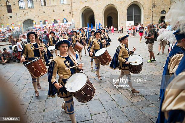 festival in volterra, tuscany, italy - volterra stock photos and pictures