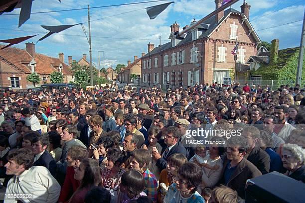 Festival In YvoyLeMarron En juin 1971 lors d'un festival à Yvoy le Marron organisé par Jean Prouvost Evelyne PAGES Séverine KASSAGI Anne Marie...
