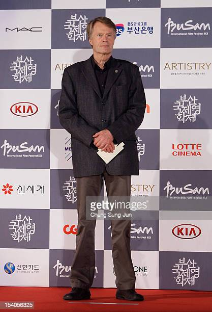 Festival jury Jean-Marie Gustave Le Clezio arrives for the closing ceremony during the 17th Busan International Film Festival at the Busan Cinema...