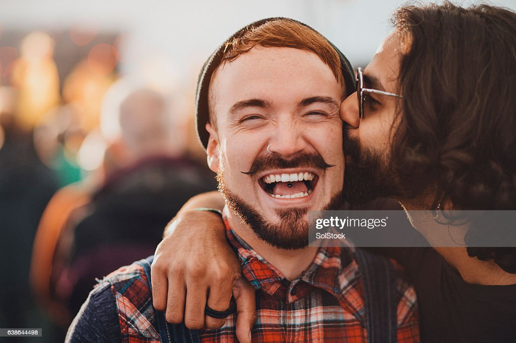 Festival Kisses : Stock Photo