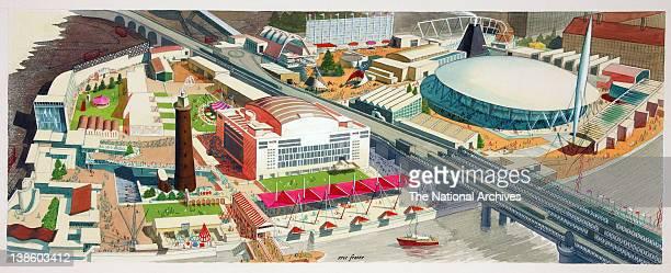 Festival of Britain aerial view 1951