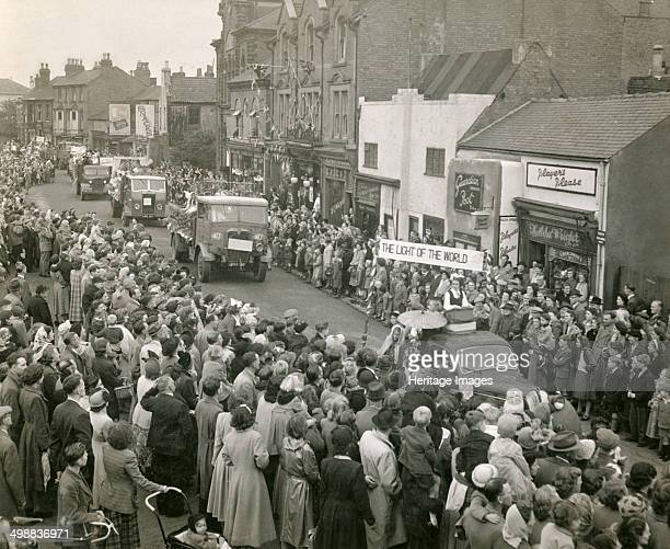 Festival of Britain celebrations Baker Street Hucknall Nottinghamshire 1951