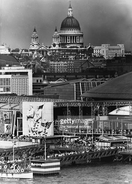 Festival of Britain Nelson Pier to St Paul's Cathedral 1951