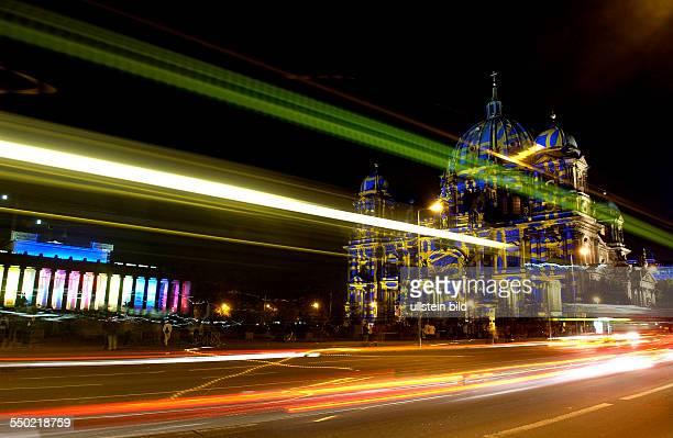 Festival Of Lights - Illuminierter Berliner Dom und das illuminierte Alte Museum am Berliner Lustgarten