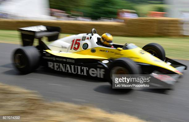 Festival of Speed Goodwood House Goodwood Sussex UK Renault Elf F1 carRS01 driven by Rene Arnoux