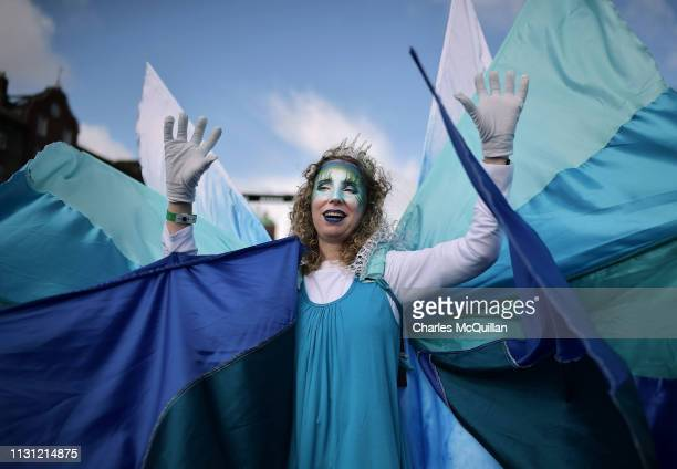 Festival participants take part in the annual Saint Patrick's Day parade on March 17 2019 in Dublin Ireland Saint Patrick the patron saint of Ireland...