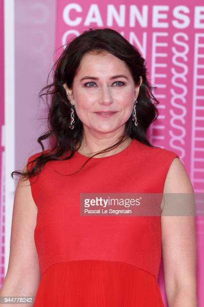 Festival Patron Sidse Babett Knudsen attends the Closing Ceremony and 'Safe' screening during the 1st Cannes International Series Festival at Palais...