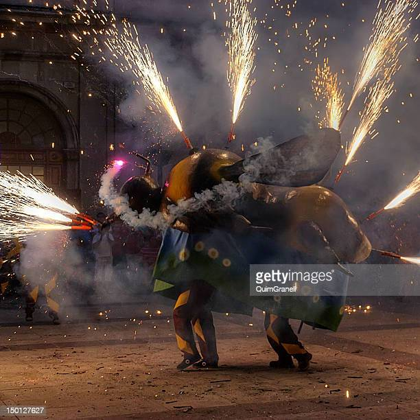 festival - castellon de la plana stock pictures, royalty-free photos & images
