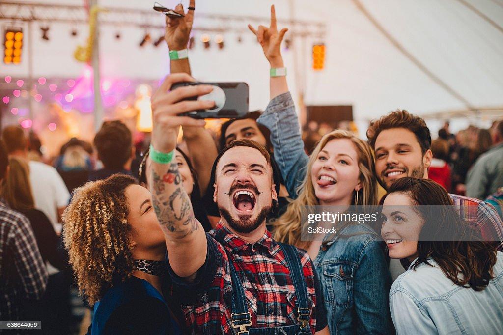 Festival Selfie : Stock Photo