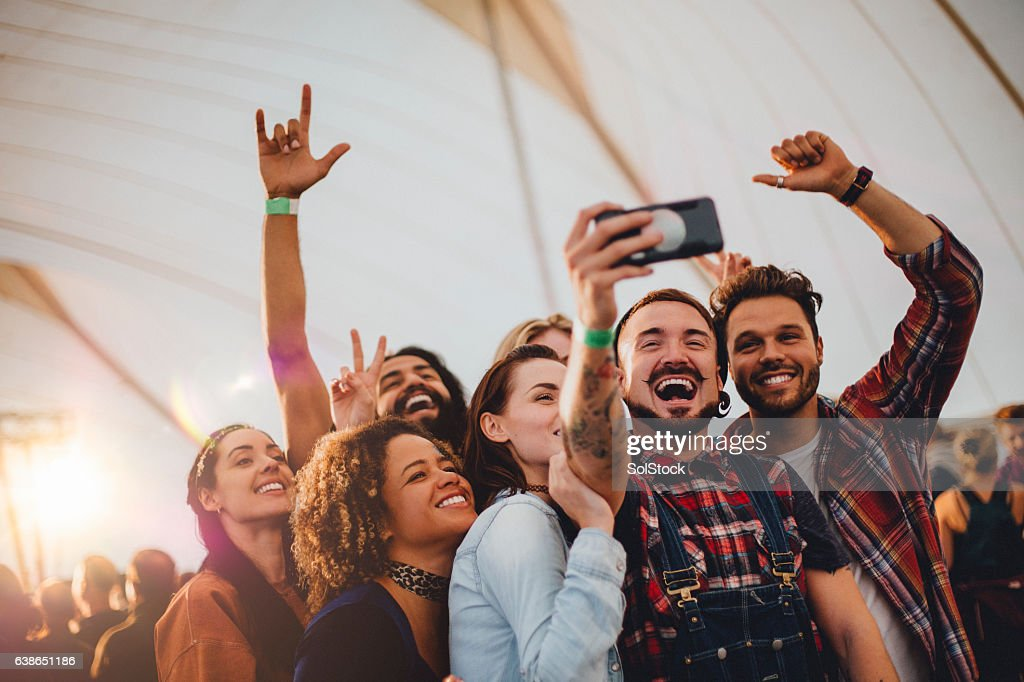 Festival Selfie : Stock Photo