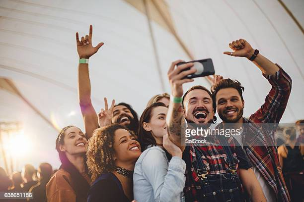 festival selfie - music festival stock pictures, royalty-free photos & images
