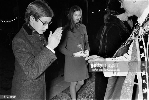 Festival Ste Devote Prince Albert And Princess Caroline In Monaco On January 29 1971