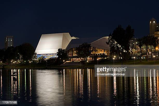 Festival Theatre on Torrens River, Adelaide, South Australia, SA, Australia.