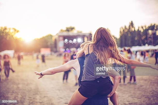 festival vibes - rear view photos stock photos and pictures