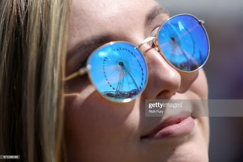 Festivalgoer attends day 1 of the 2017 Coachella Valley Music & Arts Festival (Weekend 2) at the Empire Polo Club on April 21, 2017 in Indio, California.