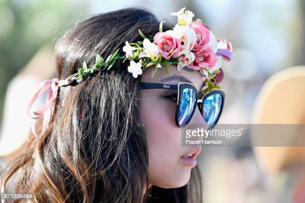 Festivalgoer attends day 1 of the 2017 Coachella Valley Music & Arts Festival at the Empire Polo Club on April 21, 2017 in Indio, California.