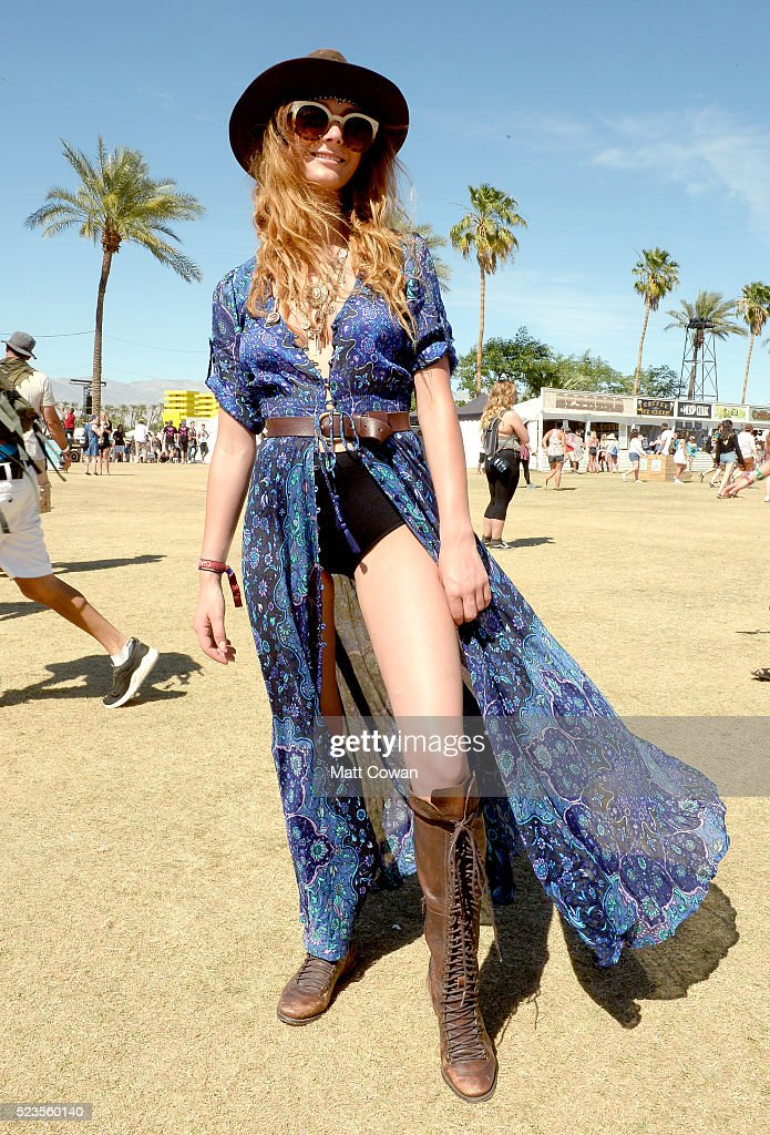 CA: Street Style At The 2016 Coachella Valley Music And Arts Festival - Weekend 2