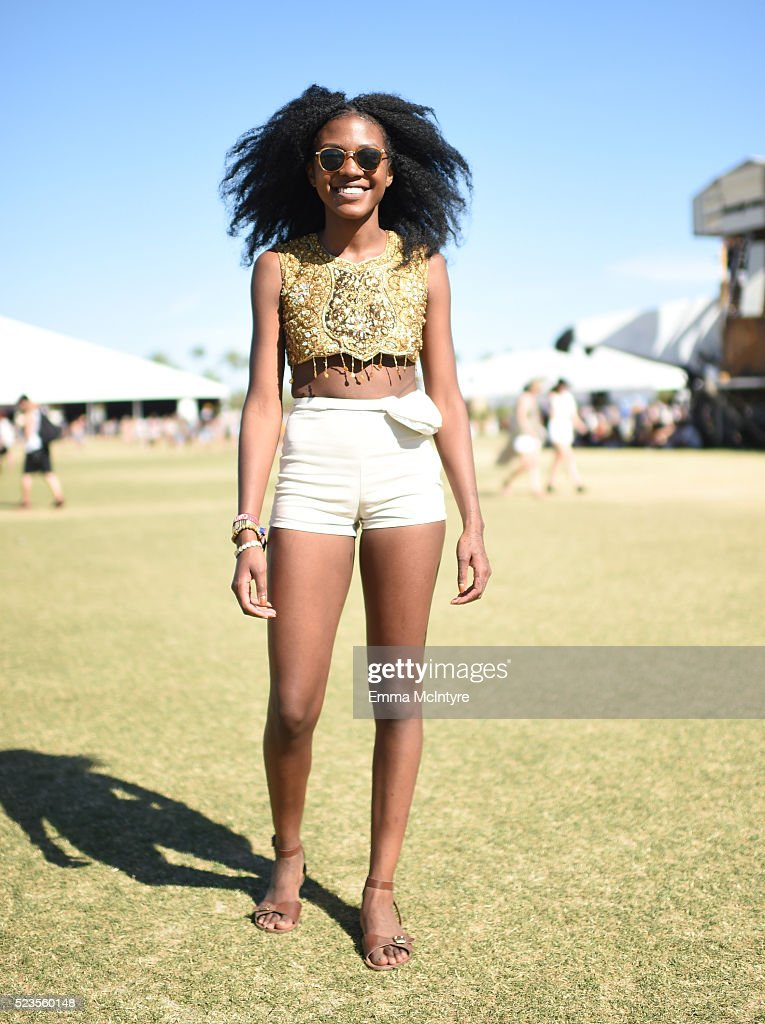 Festival-goer attends day 2 of the 2016 Coachella Valley Music & Arts Festival Weekend 2 at the Empire Polo Club on April 23, 2016 in Indio, California.