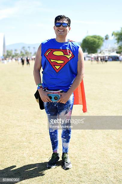 Festivalgoer attends day 2 of the 2016 Coachella Valley Music Arts Festival Weekend 2 at the Empire Polo Club on April 23 2016 in Indio California