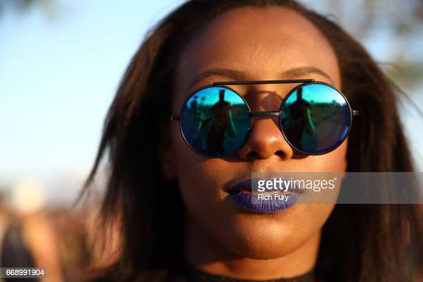 Festivalgoer attends day 2 of the 2017 Coachella Valley Music & Arts Festival Weekend 1 at the Empire Polo Club on April 15, 2017 in Indio,...