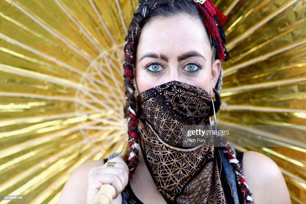 Festivalgoer attends day 2 of the 2017 Coachella Valley Music & Arts Festival (Weekend 2) at the Empire Polo Club on April 22, 2017 in Indio, California.