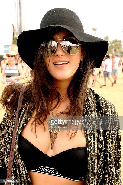 Festivalgoer attends day 3 of the 2016 Coachella Valley Music Arts Festival Weekend 2 at the Empire Polo Club on April 24 2016 in Indio California