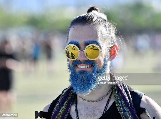 A festivalgoer attends during day 2 of the Coachella Valley Music And Arts Festival at the Empire Polo Club on April 15 2017 in Indio California