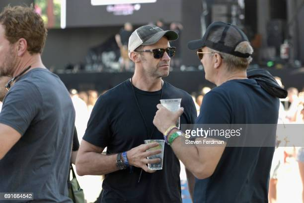 Festivalgoer Hugh Jackman during the 2017 Governors Ball Music Festival Day 1 at Randall's Island on June 2 2017 in New York City