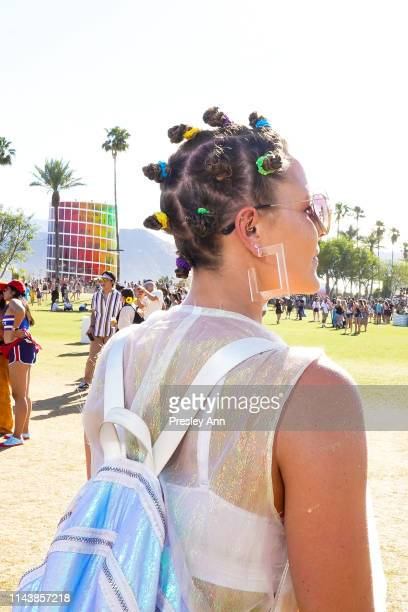 Festivalgoer is seen during the 2019 Coachella Valley Music And Arts Festival Weekend 2 on April 19 2019 in Indio California