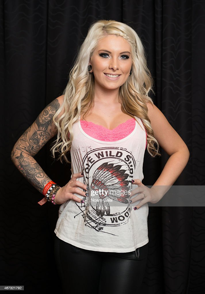Festival-goer Melissa Grossman attends the United Ink 'No Limits' Tattoo Festival at Resorts World Casino New York City on March 22, 2015 in New York City.