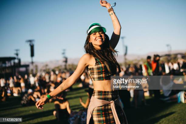 Festivalgoer street style at The 2019 Coachella Valley Music And Arts Festival Weekend 1 on April 12 2019 in Indio California