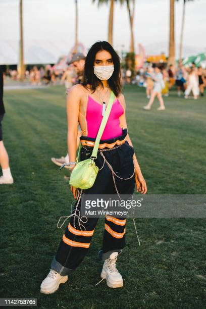 Festivalgoer street style is seen at The 2019 Coachella Valley Music and Arts Festival Weekend 1 on April 14 2019 in Indio California