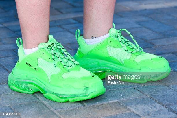 Festivalgoer wearing Balenciaga sneakers during the 2019 Coachella Valley Music And Arts Festival - Weekend 2 on April 19, 2019 in Indio, California.