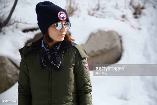 A festivalgoer wears Canada Goose at the 2018 Sundance Film Festival on January 19 2018 in Park City Utah