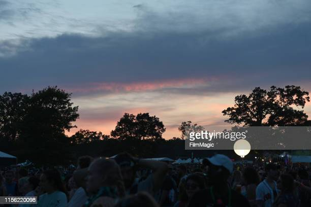 Festivalgoers are seen during the 2019 Bonnaroo Arts And Music Festival on June 15, 2019 in Manchester, Tennessee.
