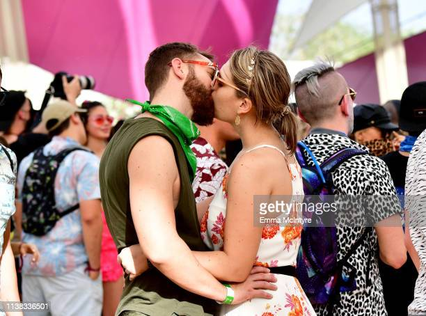 Festivalgoers are seen during the 2019 Coachella Valley Music And Arts Festival on April 20 2019 in Indio California