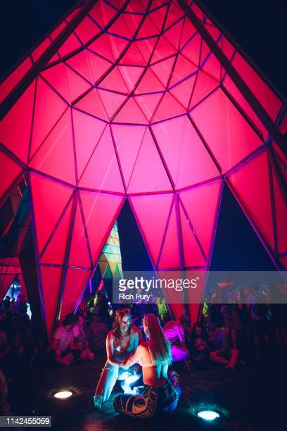 Festivalgoers are seen inside Sarbale ke during the 2019 Coachella Valley Music And Arts Festival on April 12 2019 in Indio California