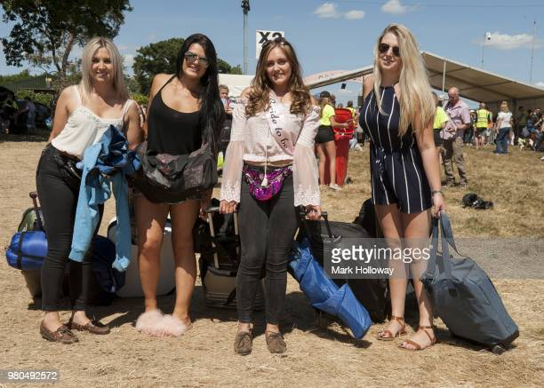 Festival goers at Seaclose Park on June 21 2018 in Newport Isle of Wight