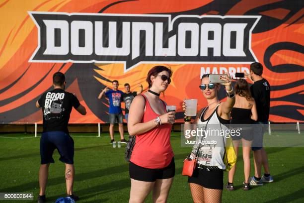 Festivalgoers at the Download Festival on June 24 2017 in Madrid Spain