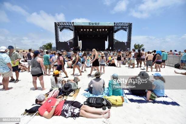 Festivalgoers at the Surf Stage during the 2017 Hangout Music Festival on May 19 2017 in Gulf Shores Alabama