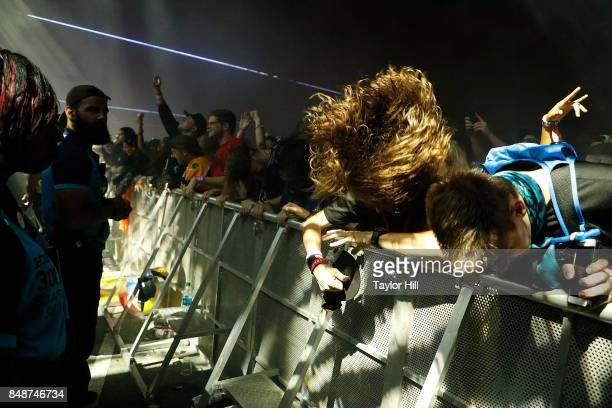 Festivalgoers attend Bassnectar performs onstage during Day 3 at The Meadows Music Arts Festival at Citi Field on September 17 2017 in New York City