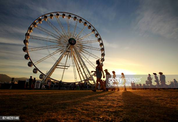 Festivalgoers attend day 1 of 2017 Stagecoach California's Country Music Festival at the Empire Polo Club on April 28 2017 in Indio California