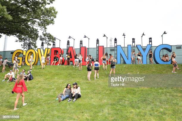 Festivalgoers attend Day 1 of 2018 Governors Ball Music Festival at Randall's Island on June 1 2018 in New York City
