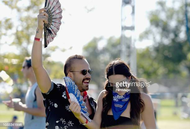 Festivalgoers attend day 1 of Grandoozy on September 14 2018 in Denver Colorado