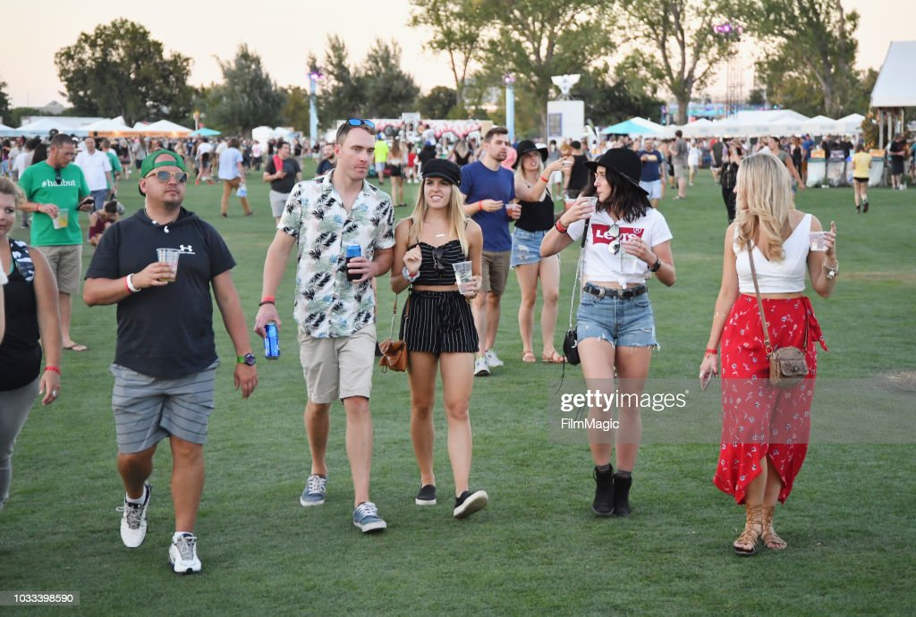 Festivalgoers attend day 1 of Grandoozy on September 14, 2018 in Denver, Colorado.