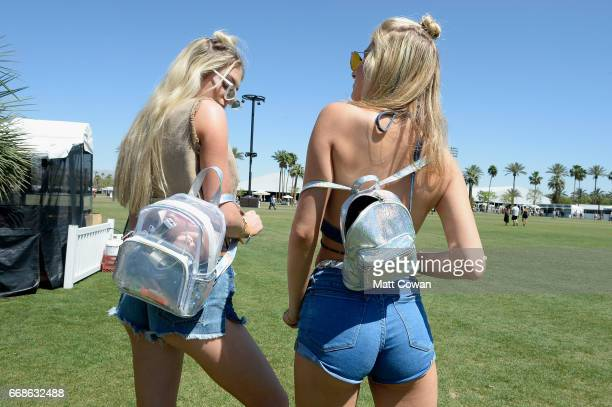 Festivalgoers attend day 1 of the 2017 Coachella Valley Music Arts Festival Weekend 1 at the Empire Polo Club on April 14 2017 in Indio California